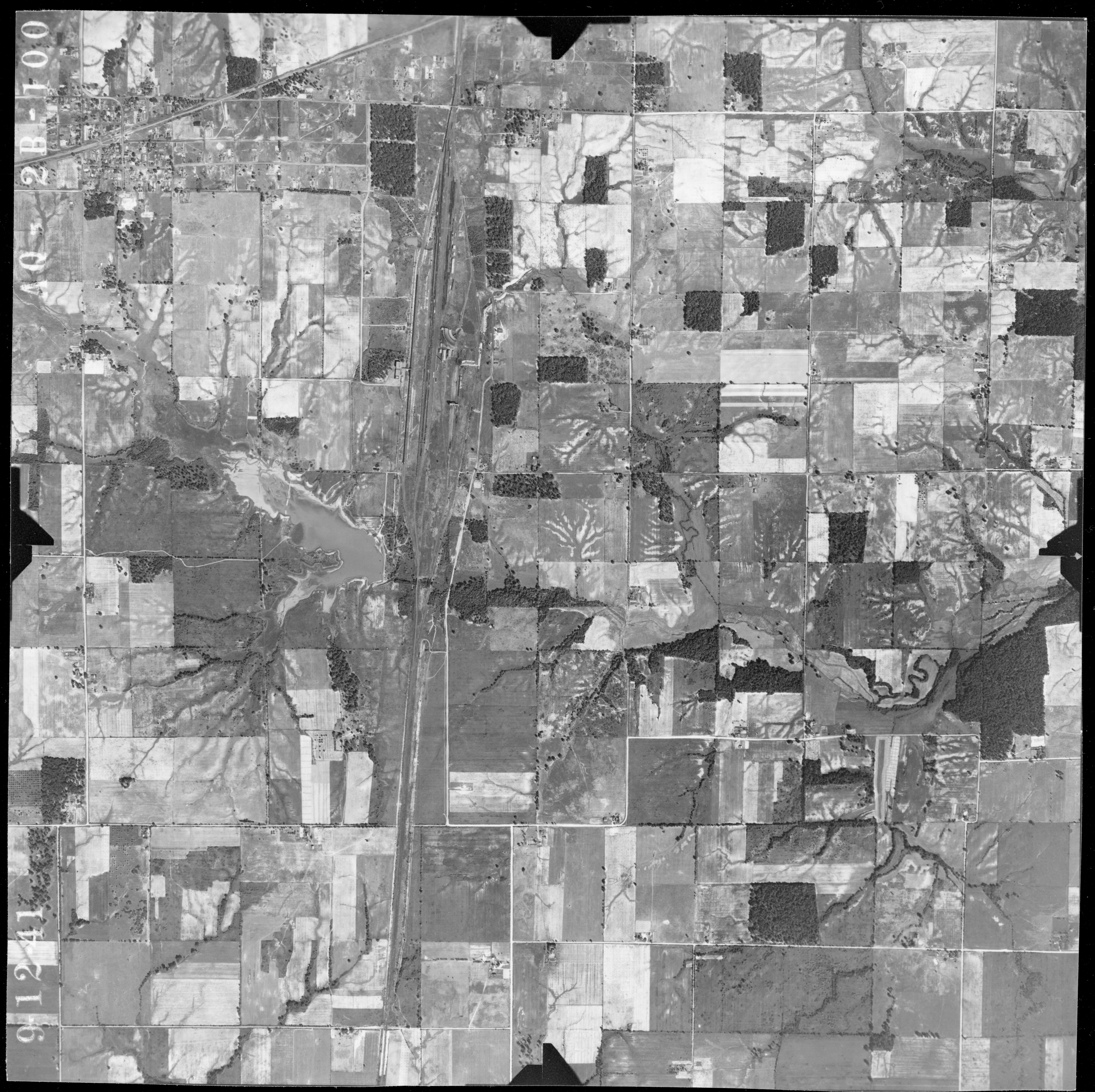 Illinois jefferson county bluford - 1941 Aerial Photo From Ilhap
